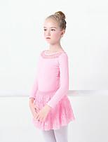 abordables -Danse classique Tenue Fille Entraînement / Utilisation Elasthanne / Lycra Dentelle Manches Longues Jupes / Collant / Combinaison