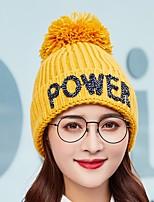 Недорогие -Жен. Активный / Классический Вязаная шапочка / Лыжная шапочка С принтом