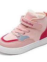 Недорогие -Девочки Обувь Синтетика Наступила зима Удобная обувь Кеды для Для подростков Бежевый / Розовый