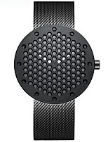Недорогие -Муж. Спортивные часы Кварцевый Нержавеющая сталь Черный / Серебристый металл / Золотистый Защита от влаги Аналоговый На каждый день Мода - Черный Серебряный Золотистый