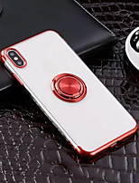 Недорогие -Кейс для Назначение Apple iPhone XR / iPhone XS Max Кольца-держатели / Ультратонкий / Прозрачный Кейс на заднюю панель Однотонный Мягкий ТПУ для iPhone XS / iPhone XR / iPhone XS Max