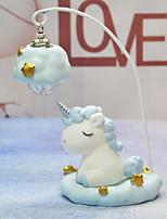 Недорогие -1шт Unicorn LED Night Light Тёплый белый Cool