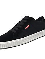 Недорогие -Муж. Комфортная обувь Полиуретан Весна На каждый день Кеды Нескользкий Черный / Бежевый