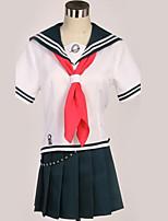 abordables -Inspiré par Danganronpa Cosplay Manga Costumes de Cosplay Costumes Cosplay Noir & blanc / Moderne Cache-col / Haut / Jupe Pour Homme / Femme
