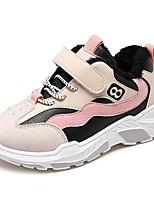 Недорогие -Девочки Обувь Полиуретан Зима Удобная обувь Спортивная обувь Беговая обувь для Для подростков Зеленый / Розовый
