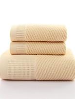 Недорогие -Высшее качество Банное полотенце, Геометрический принт / Контрастных цветов Полиэстер / хлопок Ванная комната 2 pcs