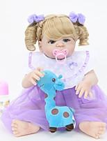Недорогие -FeelWind Куклы реборн Девочки 22 дюймовый Полный силикон для тела Силикон Винил - как живой Ручная Pабота Очаровательный Безопасно для детей Дети / подростки Non Toxic Детские Универсальные Игрушки