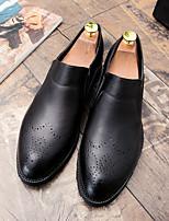 Недорогие -Муж. Комфортная обувь Полиуретан Осень Мокасины и Свитер Черный / Серый