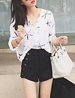 Недорогие -женская блузка - геометрическая подставка