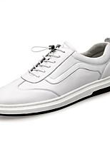 Недорогие -Муж. Комфортная обувь Кожа Весна & осень Кеды Белый / Черный