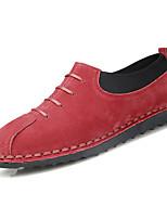 Недорогие -Муж. Комфортная обувь Полиуретан Весна На каждый день Мокасины и Свитер Нескользкий Серый / Коричневый / Красный