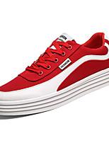 Недорогие -Муж. Комфортная обувь Полотно Весна На каждый день Кеды Дышащий Черный / Серый / Красный