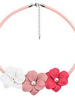 Недорогие -Жен. Мода ожерелья Контрастных цветов