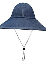 Недорогие -женская полиэфирная шляпа от солнца / флоппи-шляпа - сплошной цвет