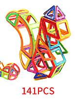 Недорогие -Магнитный конструктор Магнитные плитки 141 pcs Геометрический узор Все Мальчики Девочки Игрушки Подарок