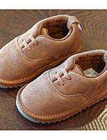 Недорогие -Девочки Обувь Замша Зима Удобная обувь Мокасины и Свитер для Дети Черный / Серый / Верблюжий
