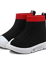 Недорогие -Девочки Обувь Полиуретан Осень Удобная обувь Кеды для Для подростков Черный / Красный / Розовый
