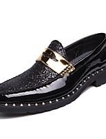 Недорогие -Муж. Комфортная обувь Полиуретан Весна Мокасины и Свитер Черный / Для вечеринки / ужина
