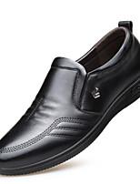 Недорогие -Муж. Кожаные ботинки Наппа Leather Весна & осень Мокасины и Свитер Черный / Коричневый