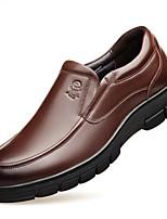 Недорогие -Муж. Комфортная обувь Наппа Leather Наступила зима Мокасины и Свитер Черный / Коричневый