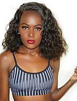 Недорогие -человеческие волосы Remy Полностью ленточные Лента спереди Парик Стрижка боб стиль Бразильские волосы Афро Квинки Парик 130% 150% 180% Плотность волос Модный дизайн Мягкость Женский Удобный вьющийся