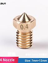 Недорогие -flsun 10 шт. латунная насадка для 3d принтера
