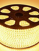 Недорогие -1m Гирлянды 60 светодиоды Тёплый белый Декоративная 220-240 V 1 комплект