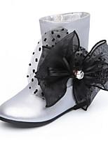 Недорогие -Девочки Обувь Полиуретан Весна & осень Удобная обувь / Модная обувь Ботинки для Для подростков Черный / Серебряный