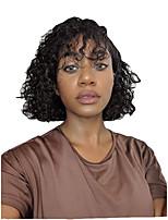 Недорогие -человеческие волосы Remy Полностью ленточные Лента спереди Парик Бразильские волосы Афро Квинки Парик Стрижка боб 130% 150% 180% Плотность волос Модный дизайн Мягкость Sexy Lady Удобный вьющийся