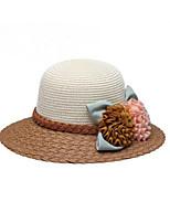 Недорогие -Жен. Классический / Праздник Шляпа от солнца - Бант Цветочный принт Цветок солнца