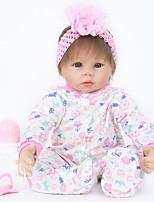 Недорогие -FeelWind Куклы реборн Кукла для девочек Девочки 22 дюймовый Силикон Винил - как живой Ручная Pабота Очаровательный Безопасно для детей Дети / подростки Non Toxic Детские Универсальные Игрушки Подарок