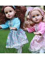 Недорогие -KIDDING Модная кукла Девочки 18 дюймовый Полный силикон для тела Силикон Винил - как живой Ручная Pабота Дети / подростки Молодежный Детские Универсальные Игрушки Подарок