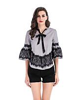 Недорогие -женская блузка - цвет блок шею