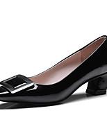 Недорогие -Жен. Наппа Leather Весна Милая / Минимализм Обувь на каблуках На толстом каблуке Заостренный носок Черный / Серый / Темно-коричневый