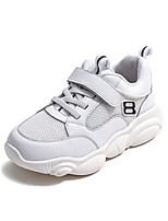 Недорогие -Девочки Обувь Кожа Весна & осень Удобная обувь Спортивная обувь Беговая обувь для Дети / Для подростков Белый / Черный