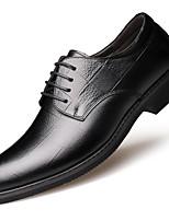 Недорогие -Муж. Официальная обувь Кожа Весна & осень Деловые / На каждый день Туфли на шнуровке Дышащий Черный / Коричневый