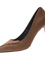 Недорогие -Жен. Полиуретан Весна Обувь на каблуках На шпильке Заостренный носок Черный / Кофейный