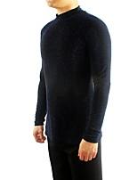abordables -Danse latine Hauts Homme Utilisation Coton cristal Ruché Manches Longues Haut