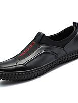 Недорогие -Муж. Комфортная обувь Полиуретан Весна На каждый день Мокасины и Свитер Нескользкий Черный / Серебряный