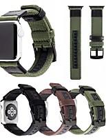 Недорогие -Ремешок для часов для Серия Apple Watch 5/4/3/2/1 Apple Классическая застежка Нейлон / Натуральная кожа Повязка на запястье