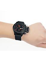 Недорогие -Муж. Наручные часы Кварцевый Pезина Материал ремешка Черный Календарь Аналого-цифровые Мода - Черный / Нержавеющая сталь