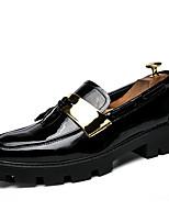 Недорогие -Муж. Комфортная обувь Полиуретан Зима На каждый день Мокасины и Свитер Нескользкий Белый / Черный / Синий