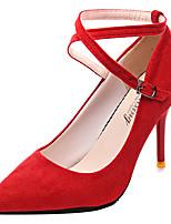 Недорогие -Жен. Полиуретан Весна На каждый день Обувь на каблуках На шпильке Черный / Красный / Розовый