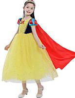 abordables -Princesse Costume de Cosplay Manteau Fille Enfant Halloween Noël Halloween Carnaval Fête / Célébration Tulle Coton Tenue Jaune Princesse