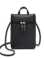 Недорогие -Жен. Мешки PU Мобильный телефон сумка Сплошной цвет Розовый / Серый / Винный