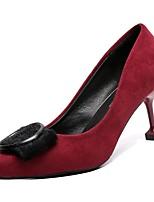 Недорогие -Жен. Полиуретан Осень Обувь на каблуках На шпильке Заостренный носок Черный / Синий / Вино