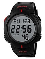 Недорогие -Муж. Спортивные часы Цифровой Черный Защита от влаги Календарь Секундомер Цифровой На каждый день Мода - Красный Зеленый Синий / Фосфоресцирующий