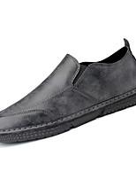 Недорогие -Муж. Комфортная обувь Полиуретан Весна На каждый день Мокасины и Свитер Дышащий Черный / Серый / Коричневый