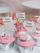 Недорогие -Украшения для торта Классика / Праздник / День рождения Художественные / Ретро / Уникальный дизайн Чистая бумага День рождения с Планка 3 pcs Пенополиуретан