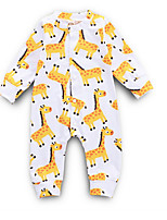 Недорогие -малыш Девочки Уличный стиль Повседневные С принтом Длинный рукав Полиэстер 1 предмет Желтый